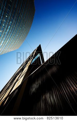 Milan, Italy - March 7, 2014: new Porta Garibaldi district office buildings, modernization of the ci