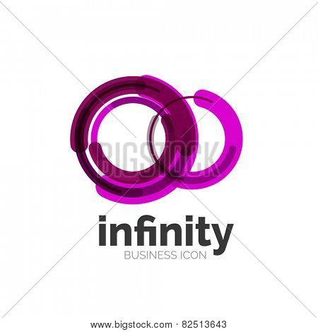 Loop, infinity business icon, logo abstract design