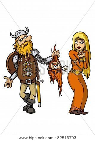 Viking Falls In Love With Girl