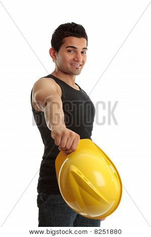 Friendly Cosntruction Worker Builder