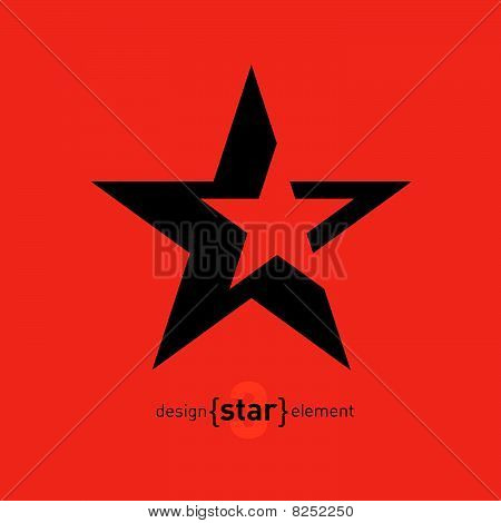 Abstract design element star, vector illustration