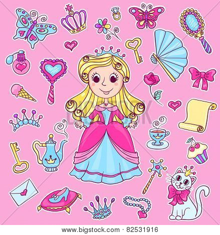 Cute Princess Sticker Set
