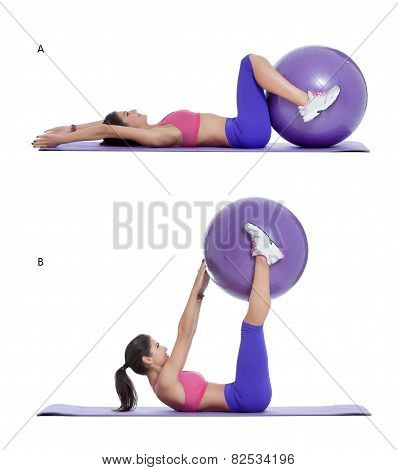 Swiss Ball Reverse Crunch