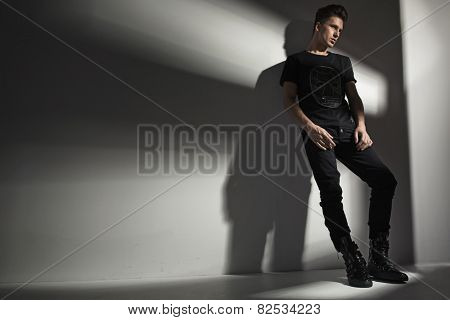 Studio shot of a fashionable man