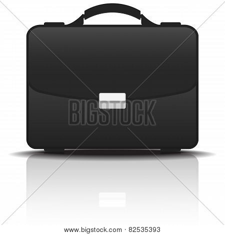 Black Portfolio Case, Vector Illustration