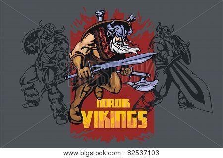 Viking warrior with big sword