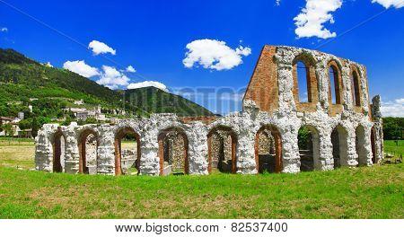 Gubbio, Umbia, Italy - ancient teatro romano
