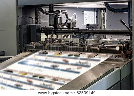 Large Printing Machines Inside The Office