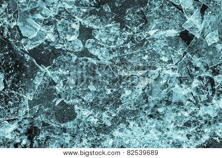 Abstract Texture Broken Ice Of Indigo Color