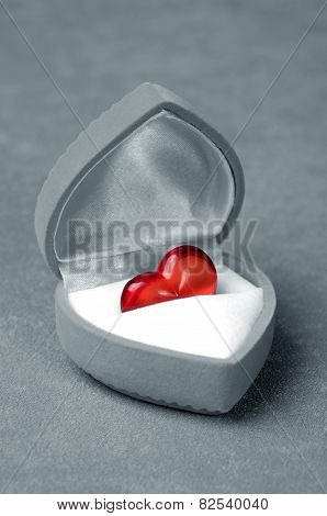Red Heart In Box