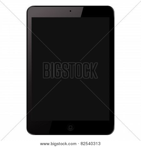 Isolated Electronic Tablet Gadget Vector Illustration