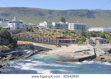 Buildings In The Historical Old Harbour In Hermanus