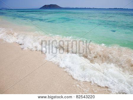Northern Fuerteventura, View Towards Isla De Lobos