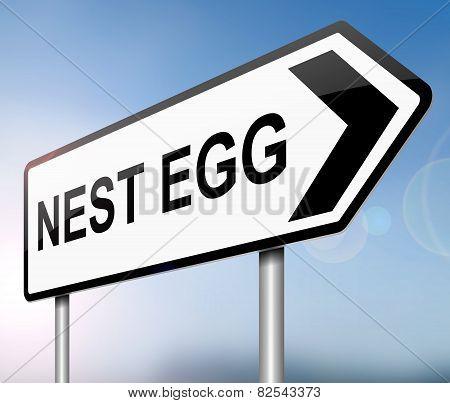Nest Egg Concept