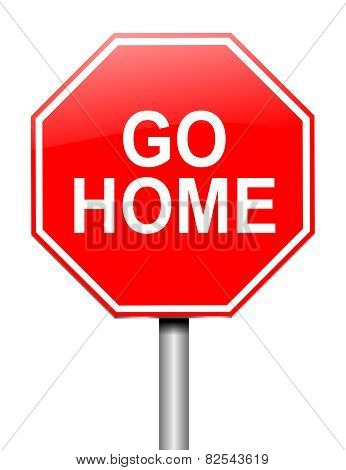 Go Home Concept