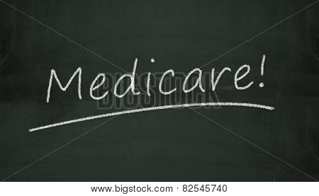Chalkboard Medicare Illustration