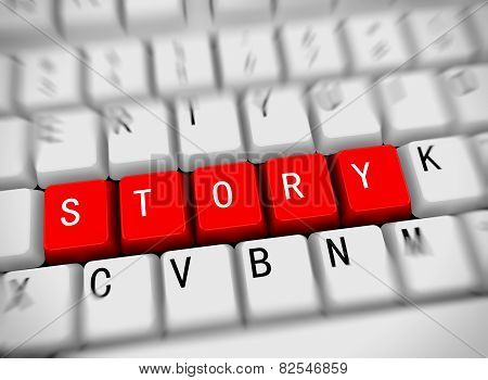 3D Keyboard - Word Story