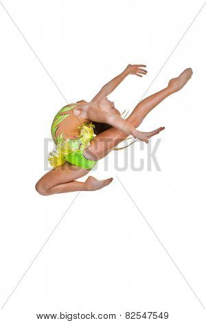 gymnast or ballet dancer leaping or jumping