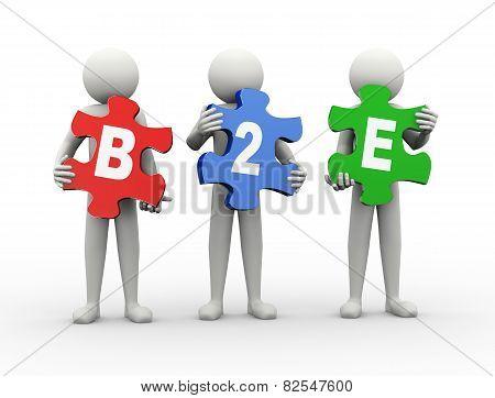 3D Man Puzzle Piece - B2E