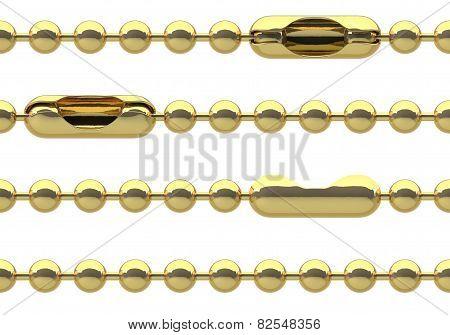 Seamless golden chain
