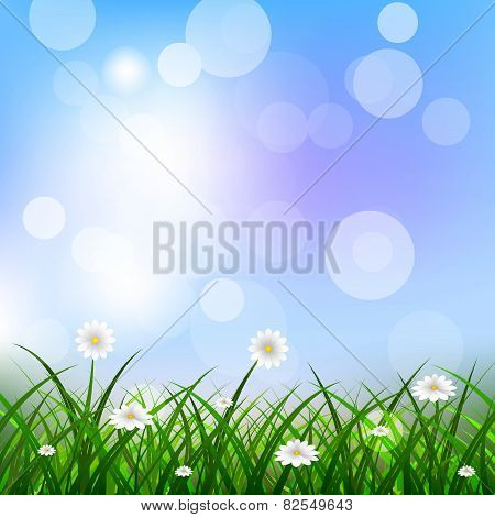 Nature spring, vector illustration