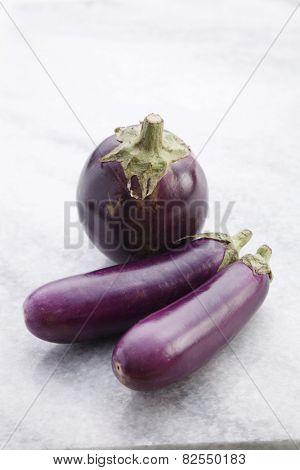 Close up of the egg plants