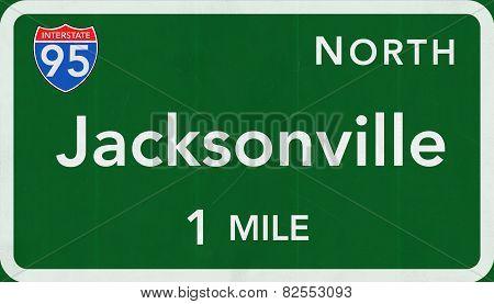 Jaksonville USA Interstate Highway Sign