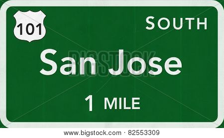 San Jose USA Interstate Highway Sign