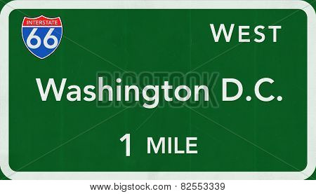 Washington DC USA Interstate Highway Sign