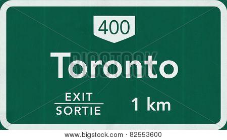 Toronto Canada Transcanada Highway Road Sign