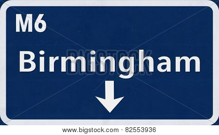 Birmingham Highway Road Sign