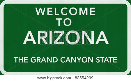 Arizona USA Welcome to Highway Road Sign
