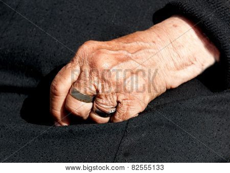 Womans Aged Hand