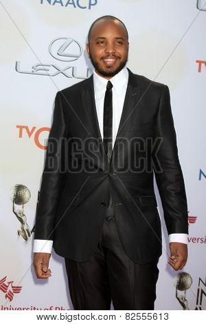 LOS ANGELES - FEB 6:  Justin Simien at the 46th NAACP Image Awards Arrivals at a Pasadena Convention Center on February 6, 2015 in Pasadena, CA
