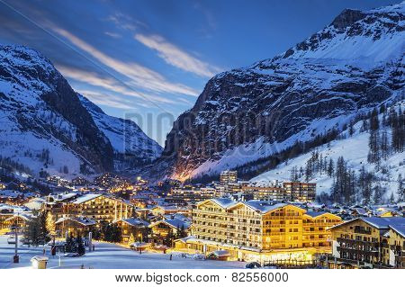 Ski Resort In French Alps