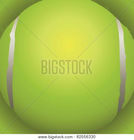 Tennis Ball Closeup Background Illustration