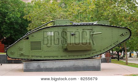 A British Mark V Tank