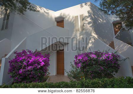 White Ibiza-style Building