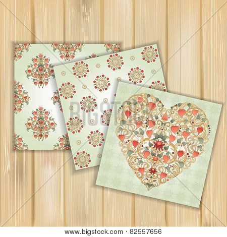 Set Of Banners With Floral Patterns