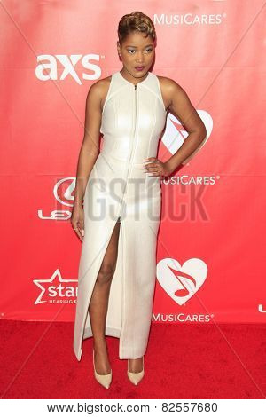 LOS ANGELES - FEB 6:  Keke Palmer at the MusiCares 2015 Person Of The Year Gala at a Los Angeles Convention Center on February 6, 2015 in Los Angeles, CA