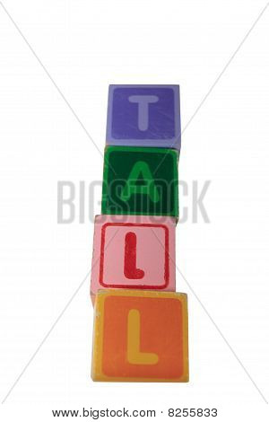 Tall Assorted Toy Play Blocks