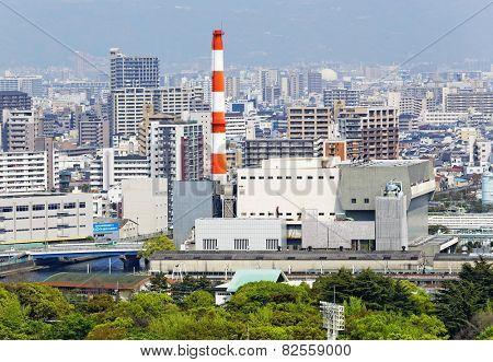 osaka city at day, japan