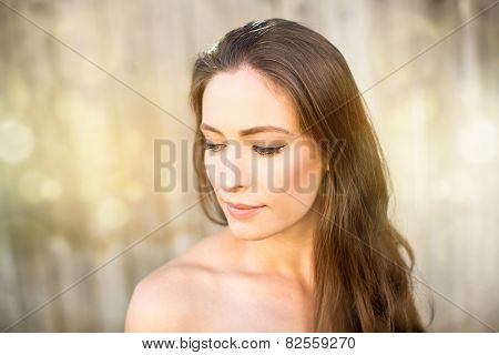 Portrait of a beautiful woman with clean face