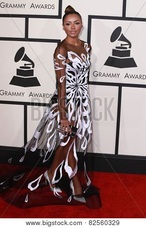 LOS ANGELES - FEB 8:  Kat Graham at the 57th Annual GRAMMY Awards Arrivals at a Staples Center on February 8, 2015 in Los Angeles, CA