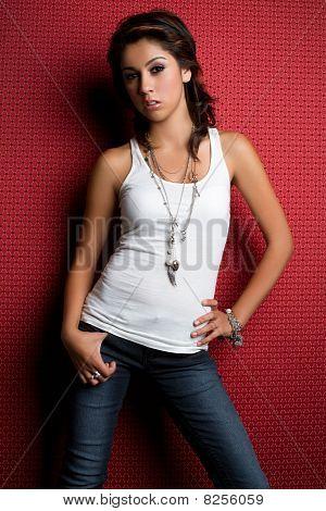 Girl Wearing Jeans