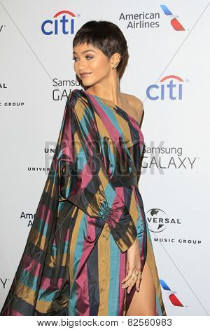 LOS ANGELES - FEB 8:  Zendaya Coleman at the Universal Music Group 2015 Grammy After Party at a The Theater at Ace Hotel on February 8, 2015 in Los Angeles, CA