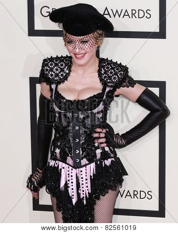 LOS ANGELES - FEB 8:  Madonna at the 57th Annual GRAMMY Awards Arrivals at a Staples Center on February 8, 2015 in Los Angeles, CA