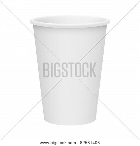 Isolated Realistic  Disposable Paper Cup Vector Illustration
