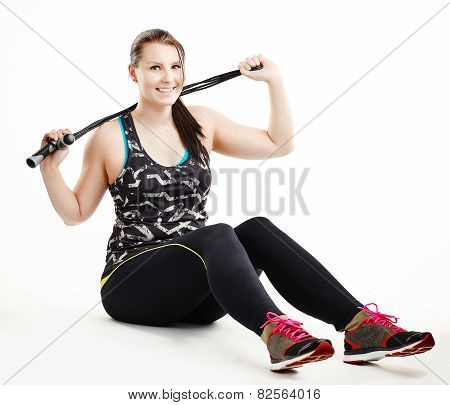 Girl And Skipping Rope