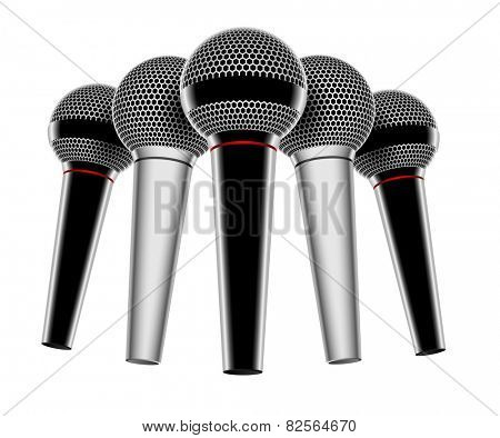 Illustration of a microphone isolated on white background.